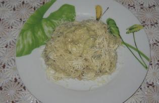 Паста с грибами и соусом бешамель (пошаговый фото рецепт)