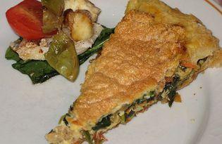 Пирог со шпинатом (рецепт с пошаговыми фото)