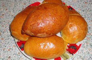 Пирожки с тушеной капустой (пошаговый фото рецепт)