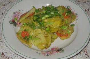 Картофель и овощи, запечённые в рукаве (пошаговый фото рецепт)