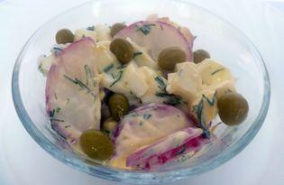 Салат из редиски (рецепт с пошаговыми фото)