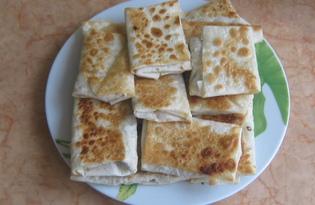 Хрустящий лаваш с начинкой (пошаговый фото рецепт)