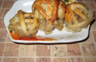 Грибные клубочки с мясом (пошаговый фото рецепт)