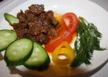Телятина с имбирем в кисло-сладком соусе (пошаговый фото рецепт)