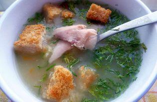 Рыбный суп из горбуши с сухариками (пошаговый фото рецепт)