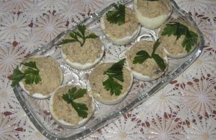 Яйца с шампиньонами (пошаговый фото рецепт)