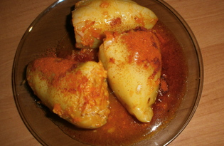 Фаршированный перец по-домашнему (пошаговый фото рецепт)