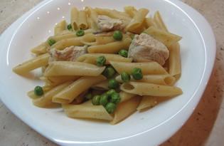 Паста с зеленым горошком и курицей (рецепт с пошаговыми фото)