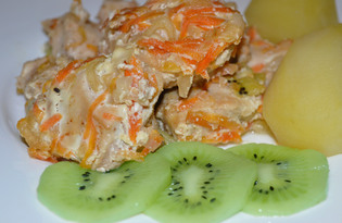 Куриное филе с киви и яблоками (рецепт с пошаговыми фото)