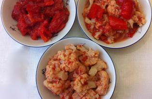 Консервируем салат из цветной капусты и болгарского перца (рецепт с пошаговыми фото)
