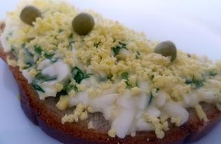 Бутерброд с чесноком «Мимоза» (рецепт с пошаговыми фото)