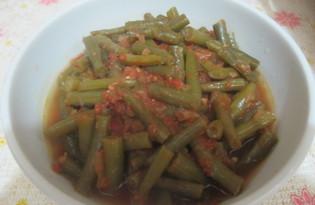 Зеленая фасоль в томатном соусе (рецепт с пошаговыми фото)