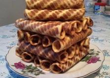 Вафельные трубочки (рецепт с пошаговыми фото)