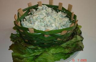Салат в корзинке (пошаговый фото рецепт)