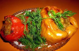 Болгарский перец, фаршированный авокадо (пошаговый фото рецепт)