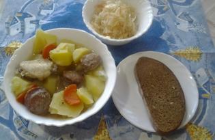 Сытный картофель по-крестьянски с грибами (пошаговый фото рецепт)