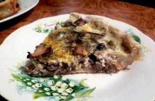 Картофельный пирог с шампиньонами (пошаговый фото рецепт)