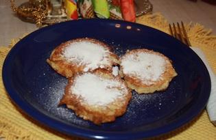 Оладьи с яблоком и кунжутом (рецепт с пошаговыми фото)