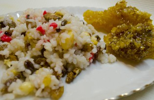 Сладкий рис с мёдом (пошаговый фото рецепт)