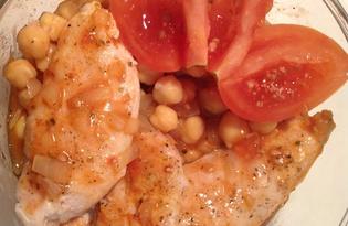 Куриные грудки под томатным соусом с нутом (пошаговый фото рецепт)