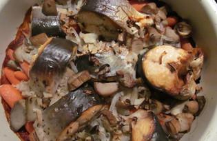 """Рыба на морковной """"подушке"""" с грибами (пошаговый фото рецепт)"""