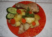 Овощное рагу с курицей (пошаговый фото рецепт)