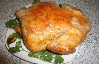 Курица запеченная в рукаве (пошаговый фото рецепт)