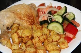 Картофель в специях с курочкой (рецепт с пошаговыми фото)