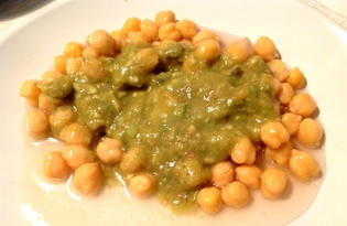 Нут под соусом из авокадо (пошаговый фото рецепт)