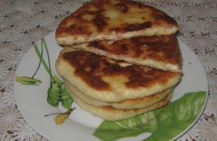 Сырные лепёшки на быструю руку (пошаговый фото рецепт)