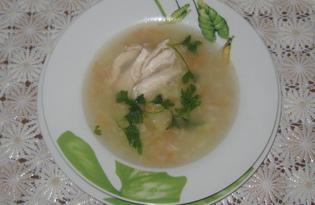 Диетический супчик с овсянкой и курочкой (пошаговый фото рецепт)
