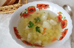 Суп с клецками (пошаговый фото рецепт)