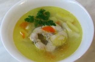 Нежный суп с хеком (пошаговый фото рецепт)