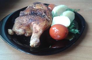Жареная курица по-грузински (пошаговый фото рецепт)