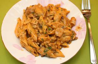 Паста с курицей и грибами (рецепт с пошаговыми фото)