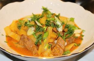Суп-гуляш (пошаговый фото рецепт)