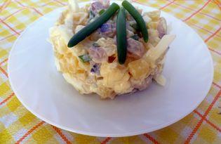Салат с селедкой, картофелем и яйцами (пошаговый фото рецепт)