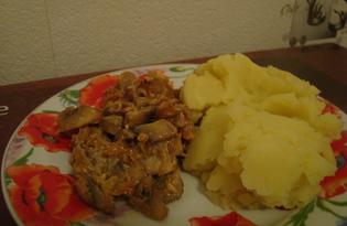 Жареные грибочки (шампиньоны) (пошаговый фото рецепт)