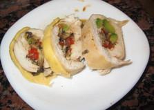 Куриный рулет с авокадо (пошаговый фото рецепт)