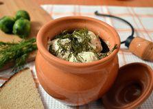Брюссельская капуста с овощами и курицей в горшочке (пошаговый фото рецепт)