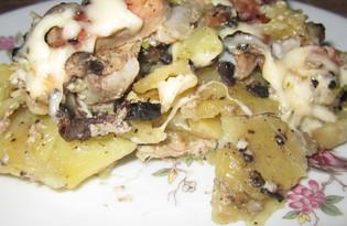 Министерский картофель с брокколи и грибами (пошаговый фото рецепт)