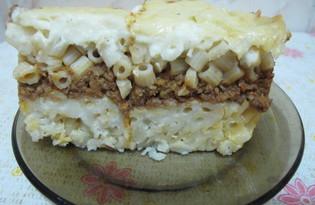 Макароны Бешамель или Египетская лазанья (пошаговый фото рецепт)