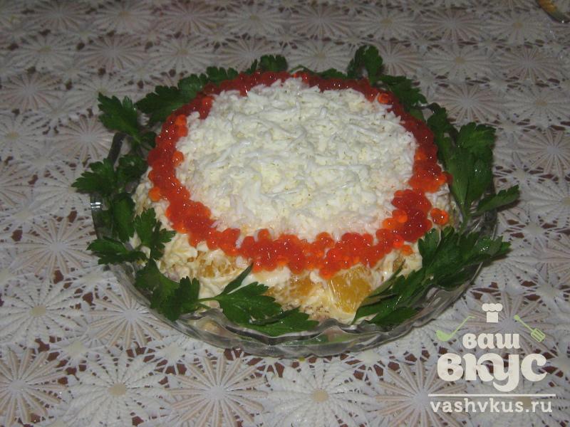 Пошаговое салатов с икрой