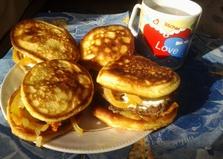 Домашние гамбургеры с печёночными котлетками (пошаговый фото рецепт)