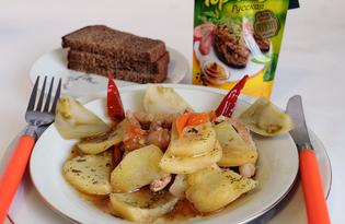 Молодая свинина, тушеная с картофелем и овощами (пошаговый фото рецепт)