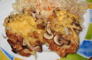 Куриные растрепки под сырной шубкой (пошаговый фото рецепт)