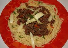 """Спагетти с соусом """"Болоньезе"""" (пошаговый фото рецепт)"""