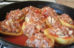 Фаршированный картофель (пошаговый фото рецепт)