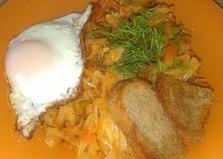 Тушеная капуста с грибами (пошаговый фото рецепт)