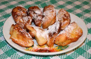 Яблочные дольки в кляре (пошаговый фото рецепт)